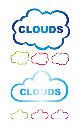 clouds stickers isolated over white background. vector Stock Vector - 11317661