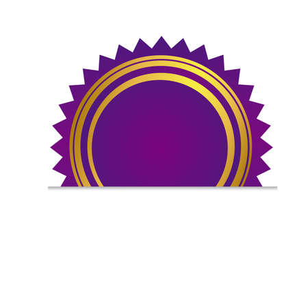 purple rosette which are sticking out of the cut paper Vector