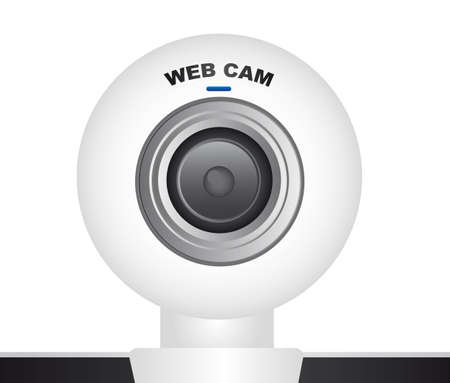 white web cam over white background. vector Stock Vector - 11317747