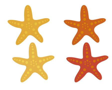 cartoon rozgwiazdy samodzielnie na białym tle. wektor