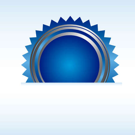 blue rosette with blue paper background. vector Vector