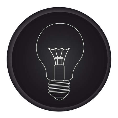 silhouette light bulb over black circle isolated. vector Stock Vector - 11317737