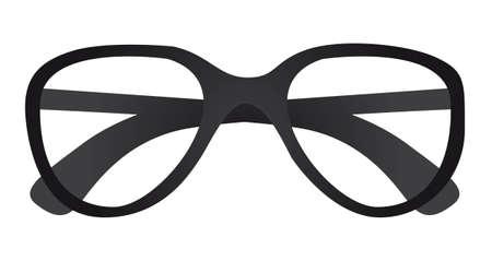 sun glass: gafas de sol sin lentes aisladas sobre fondo blanco. vector