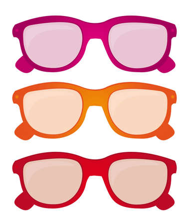 colorful sunglasses isolated over white background. vector Stock Vector - 11317697