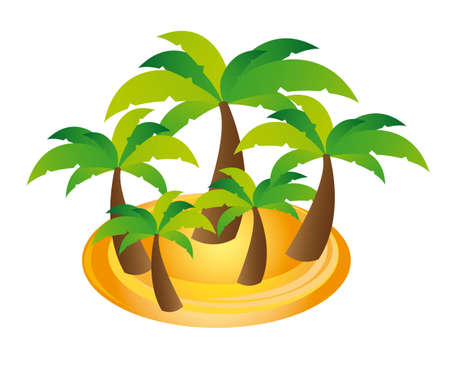 palms cartoons over white background. vector illustration Vector