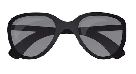 black sunglasses isolated over white background. vector Stock Vector - 11317648