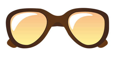 Brown sunglasses isolated over white background. vector Stock Vector - 11317642