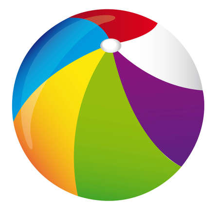 Colorful summer ball isolated over white background. vector
