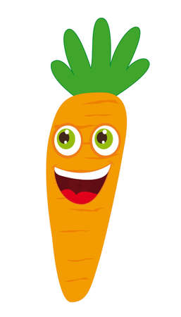 carrot cartoon over white background. vector illustration Vector