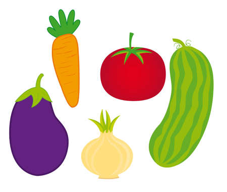 cute vegetables over white background. vector illustration