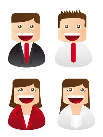 busineessman and business woman icons. vector illustration Vector