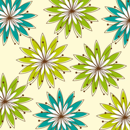 greend and blue abstract flowers background. vector illustration Stock Vector - 11618559