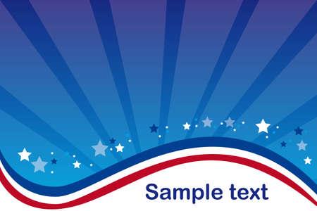 white party: blauwe en rode achtergrond met sterren vector illustratie