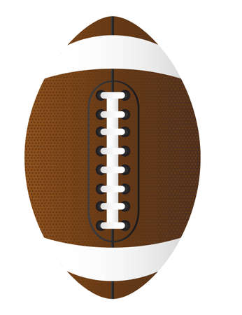seams: brown american football over white background. vector illustration Illustration