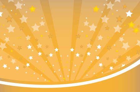 festiveness: gold and white star over gold background. vector illustration Illustration