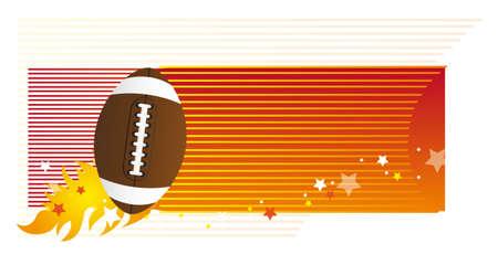 pigskin: american football over orange background. vector