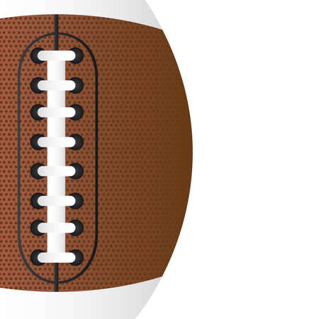 leather stitch: american football over white background vector. close up