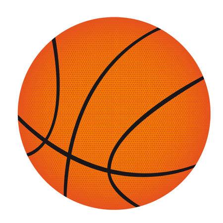 basketball ball: basketball isolated over white background. vector illustration