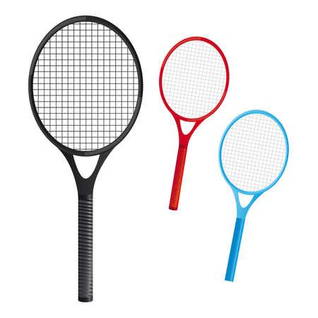 raqueta tenis: raquetas de tenis sobre fondo blanco. vector de illustation