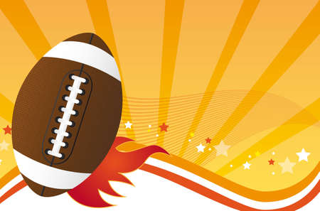 sports equipment: american football over orange background. vector illustration