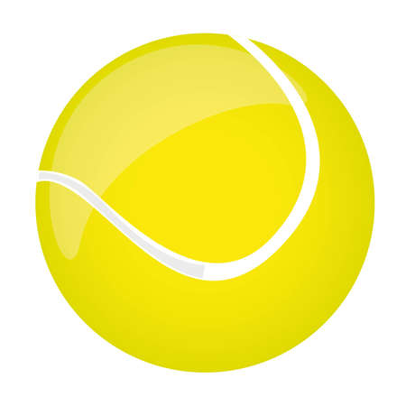 yellow tennis ball isolated over white background. vector illustration Stock Vector - 11618489