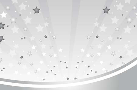silver background with stars vector illustration Vector
