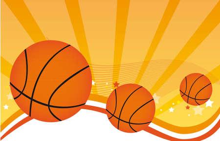 basketball over orange background. vector illustration