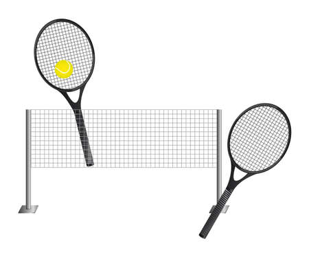 tennis with racket isolated over white background. vector  Vector