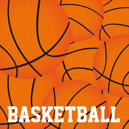 basketball balls background vector illutration. close up Vector