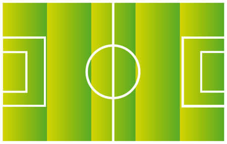 green and white soccer field vector illustration.close up Vector