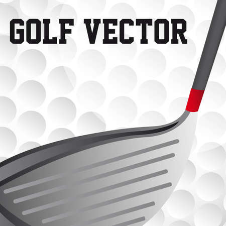 golf textured with golf club vector illustration. close up Vector
