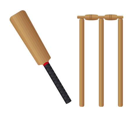 cricket set isolated over white background. vector illustration Vector