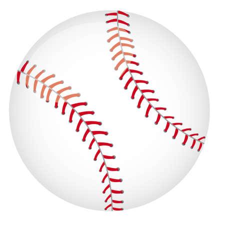 hardball: baseball ball isolated over white background. vector