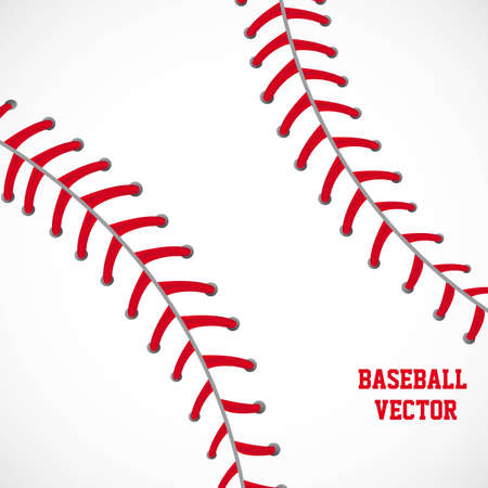 white and red baseball textured background vector illustration Vector