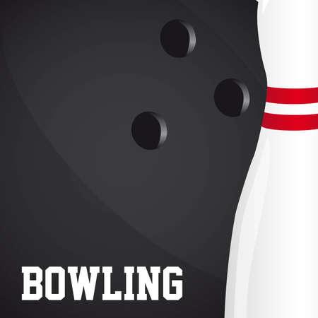 quille de bowling: boule de bowling et quilles de fond. illustration vectorielle