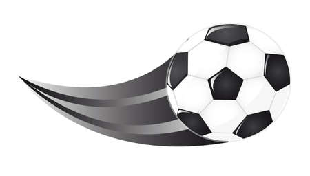 foot ball: soccer ball isolated over  white background. vector illustration