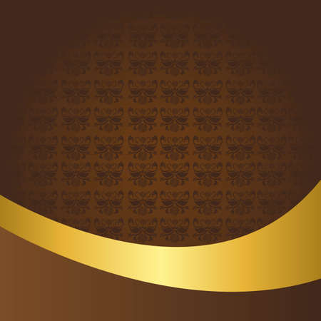 brown and gold ornament background with wave. vector Stock Vector - 11890384