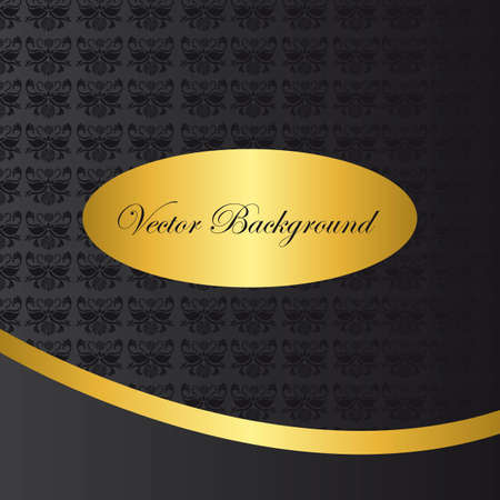 black and gold ornament background vector illustration Vector