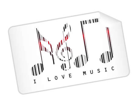 accords: music notes bar code isolated over white background. vector