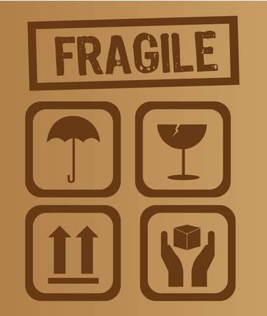 umbrella,glass, arrow and hands box signs vector illustration Stock Vector - 11891623