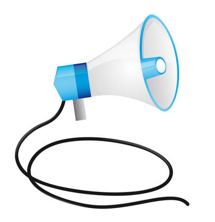 megaphone with cable isolated over white background. vector Stock Vector - 11891622