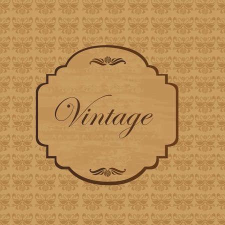 Ornaments on brown background, vintage vector illustration Stock Vector - 12136676