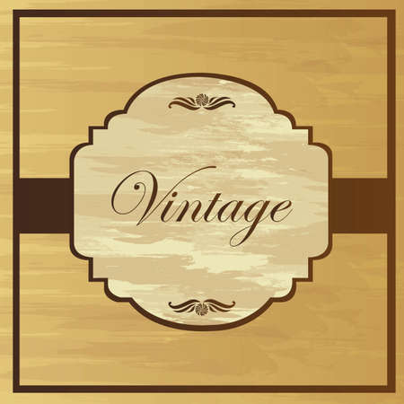 Brown vintage backgrtound with ornaments, vector illustration Stock Vector - 12136678