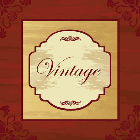 Vintage background with ornaments and frame, vector illustration Stock Vector - 12136706