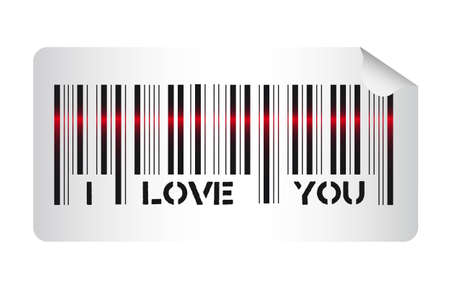 Barcode with i love you message, vector illustration Stock Vector - 12136720