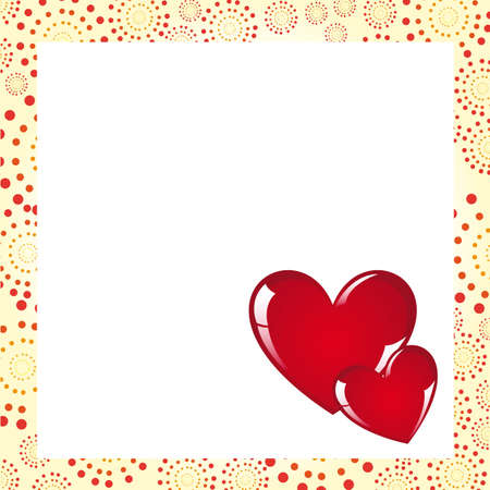 Hearts with frame, blank to insert text or design, vector illustration Stock Vector - 12136698