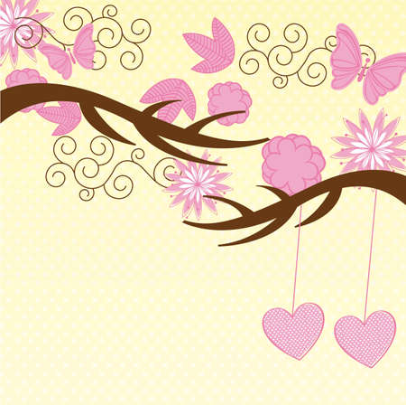 cute nature and animals background. vector illustration Vector