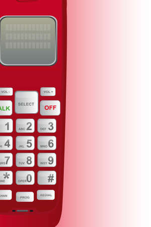 red telephone emergency with copy space. vector illustration Vector