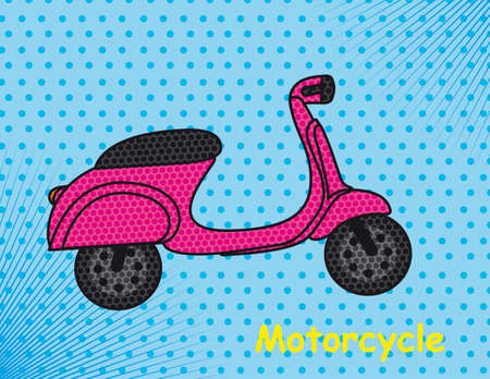 motorbike pop art over blue background illustration Stock Vector - 12459142