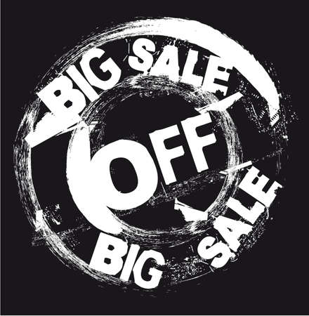 white big sale stamp isolated over black background.